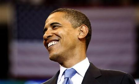 US Democratic presidential candidate Senator Barack Obama (D-IL) speaks at his South Dakota and Montana presidential primary election night rally at the Xcel Energy Center in St. Paul, Minnesota, June 3, 2008. REUTERS/Jason Reed (UNITED STATES) US PRESIDENTIAL ELECTION CAMPAIGN 2008 (USA)
