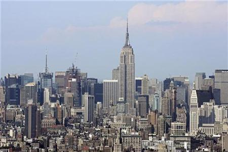 The Empire State Building in midtown Manhattan is seen in a file photo. REUTERS/Keith Bedford