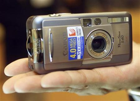 A Canon PowerShot digital camera is shown in this file photo. REUTERS/Eriko Sugita