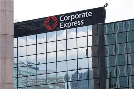 The headquarters of the Dutch office equipment supplier Corporate Express is seen in Amsterdam May 22, 2008. REUTERS/Michael Kooren