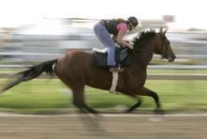 <p>Parier sur internet sur les courses de chevaux sera bientôt possible en France. Le ministre du Budget, Eric Woerth, a confirmé en conseil des ministres l'ouverture prochaine du marché français des paris sportifs et hippiques en ligne, ainsi que des jeux d'argent sur internet. Un projet de loi sera présenté à l'automne au Parlement. /Photo d'archives/REUTERS/Molly Riley</p>