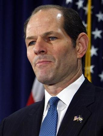 New York Governor Eliot Spitzer announces his resignation in New York March 12, 2008. REUTERS/Brendan McDermid