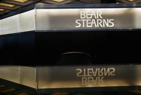 The Bear Stearns logo is seen at the lobby of the headquarters in New York in this March 26, 2008 file photo. REUTERS/Shannon Stapleton