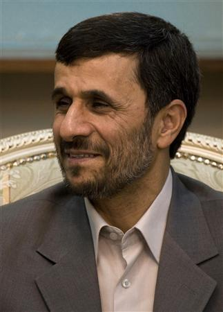 Iranian President Mahmoud Ahmadinejad attends an official meeting in Tehran June 15, 2008. REUTERS/Raheb Homavandi