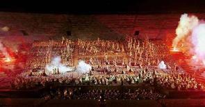 <p>Uno spettacolo all'Arena di Verona VP/ME</p>