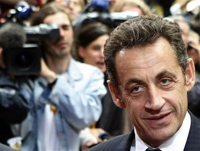 France's President Nicolas Sarkozy arrives at the European Council headquarters on the first day of an EU summit in Brussels June 19, 2008. REUTERS/Yves Herman