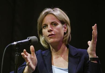 President of Yahoo! Susan Decker, speaks at the Advertising 2.0 conference in New York June 4, 2008. REUTERS/Brendan McDermid