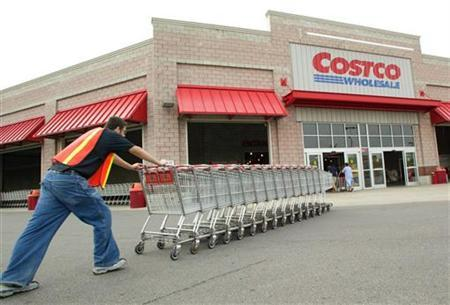 An Exterior View Showing A Costco Warehouse Store In Chicago Illinois On August 18