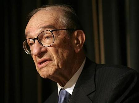 Former Federal Reserve chairman Alan Greenspan speaks at the Per Jacobsson Foundation Lecture in Washington October 21, 2007. REUTERS/Yuri Gripas
