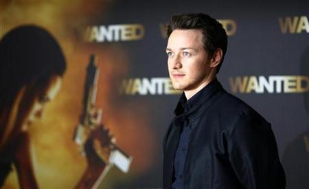 Scottish actor James McAvoy poses during a photocall to present his new film 'Wanted' in Berlin June 10, 2008. REUTERS/Johannes Eisel
