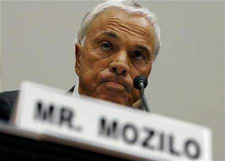 Counrtrywide Financial Corporation founder and CEO Angelo Mozilo testifies before the House Committee on Oversight and Government Reform on Capitol Hill in Washington March 7, 2008. REUTERS/Kevin Lamarque