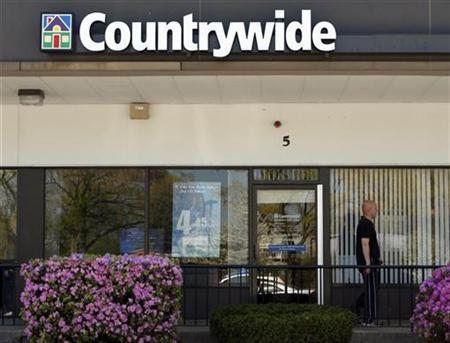 A Countrywide branch location is seen in Burlington, Massachusetts, May 5, 2008. REUTERS/Brian Snyder