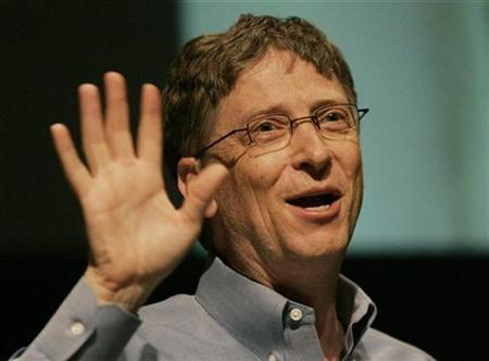 File photo shows Microsoft Chairman Bill Gates speaksing to students at Stanford University in Palo Alto, California February 19, 2008. REUTERS/Robert Galbraith