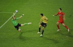 <p>Il gol dello spagnolo Daniel Guiza REUTERS/Christian Charisius</p>