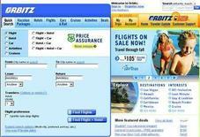 <p>Uno screenshot del sito Orbitz.com. REUTERS/www.orbitz.com</p>
