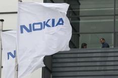 <p>La Commission européenne a donné son feu vert au rachat par le finlandais Nokia de l'éditeur américain de cartographies numériques Navteq, une acquisition évaluée à 8,1 milliards de dollars. /Photo d'archives/REUTERS/Ina Fassbender</p>