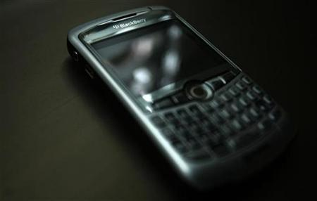 A Research in Motion Blackberry is shown in Toronto October 26, 2007. REUTERS/Mark Blinch