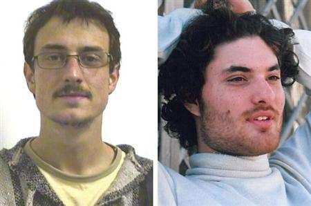 Gabriel Ferez and Laurent Bonomo (R) in a combination image. REUTERS/Handout