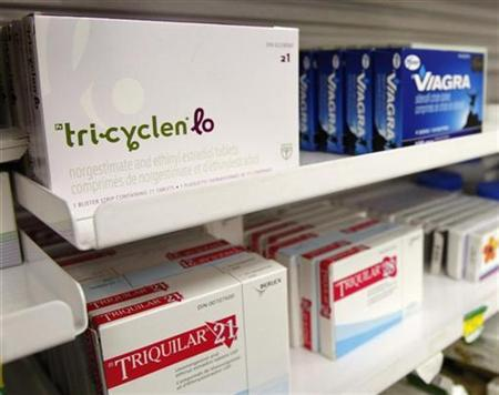 A box of Tri-Cyclen Lo birth control medication for women is seen in a pharmacy in Toronto January 31, 2008. REUTERS/Mark Blinch