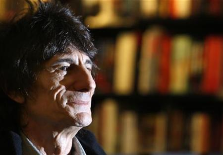 Ronnie Wood, member of The Rolling Stones, attends a book signing for his autobiography, 'Ronnie', in central London, October 16, 2007. REUTERS/Toby Melville