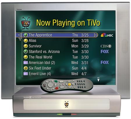 A TiVo box and navigation screen are seen in an undated handout photo. REUTERS/PRNewsFoto
