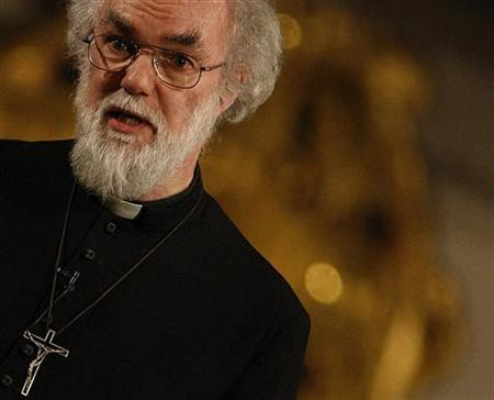 The Archbishop of Canterbury Rowan Williams speaks during a seminar entitled 'Faith in the Future' at Great St Mary's Church in Cambridge, in this February 20, 2008 file photo. REUTERS/Darren Staples