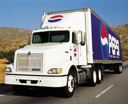 A Pepsi truck is seen in an undated handout photo. REUTERS/Handout