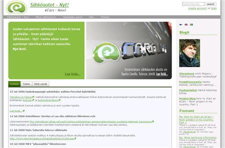 A screenshot of www.sahkoautot.fi, taken July 22, 2008. REUTERS/Sahkoautot.fi