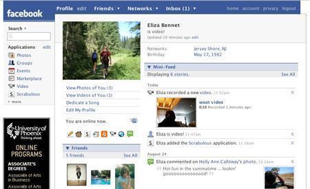 A sample Facebook profile is seen in an undated handout image. REUTERS/Facebook/Handout