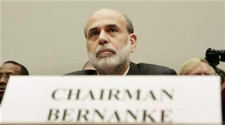 Chairman of the Federal Reserve Ben Bernanke testifies before the House Financial Services Committee on Capitol Hill in Washington July 16, 2008. REUTERS/Larry Downing