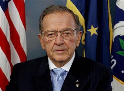 Senator Ted Stevens (R-AK) poses in an undated handout photo. REUTERS/Handout