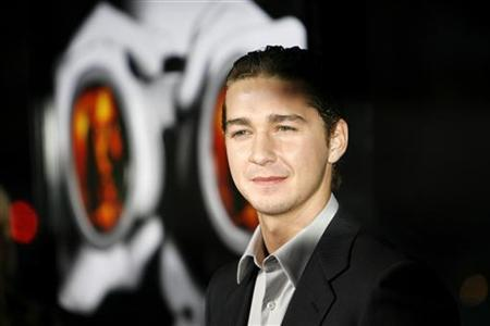 Cast member Shia LaBeouf attends the premiere of ''Disturbia'' at the Mann's Chinese theater in Hollywood April 4, 2007. LaBeouf was cleared of blame in a weekend collision because the other driver ran a red light, police said on Tuesday. REUTERS/Mario Anzuoni