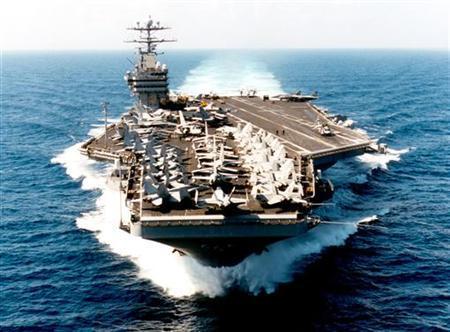 USS George Washington (CVN73) is seen in the Arabian Sea, November 19, 1997. REUTERS/Files