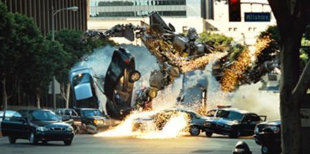 A scene from the film ''Transformers.'' REUTERS/DreamWorks/Paramount Pictures/Handout
