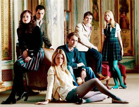 The cast of ''Gossip Girl'' in an undated photo. The show follows the lives of students at an elite Manhattan private school, has been likened by critics to ''Sex and the City'' for teenagers, with salacious story lines and trend-setting fashion. REUTERS/The CW/Timothy White/Handout