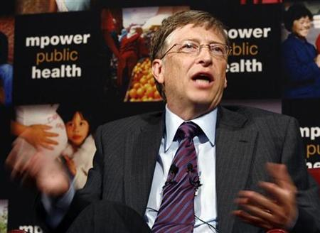 Microsoft Corp co-founder Bill Gates speaks during a news conference announcing joint efforts with New York City Mayor Michael Bloomberg to combat the global tobacco epidemic in New York, July 23, 2008. REUTERS/Shannon Stapleton
