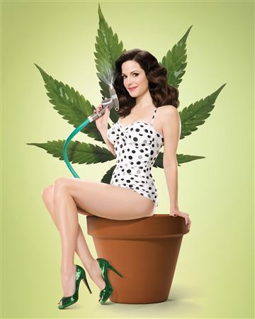 Actress Mary-Louise Parker is shown in this undated publicity illustration for her Showtime Networks series ''Weeds''. Thirty years after comedians Cheech Marin and Tommy Chong popularized the myth of stoners as amiable goofballs in ''Up In Smoke,'' film and television producers are instead portraying pot smokers as regular folks from all walks of life. REUTERS/Showtime Networks/Handout