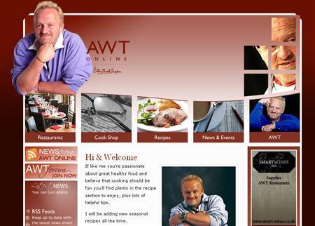 A screenshot of Celebrity chef Antony Worrall Thompson's website, taken on August 4, 2008. REUTERS/www.awtonline.co.uk
