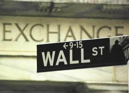 Wall street signage is shown in this file photo. REUTERS/file