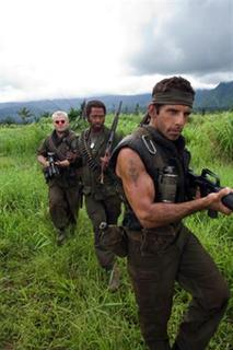 Jack Black, Robert Downey Jr. and Ben Stiller in a scene from ''Tropic Thunder''. REUTERS/DreamWorks Pictures