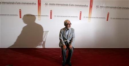 Japanese director Hayao Miyazaki attends a photocall in Venice September 9, 2005. REUTERS/Alessia Pierdomenico