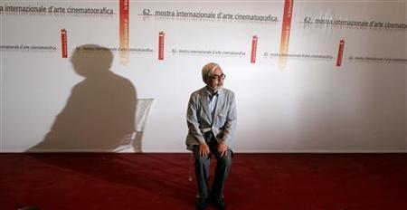Japanese director Hayao Miyazaki attends a photocall in Venice September 9, 2005. REUTERS/Alessia Pierdomenico