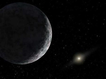 An artist's concept depicts the distant dwarf planet known as Eris on June 14, 2007. REUTERS/NASA-JPL/Caltech/Handout
