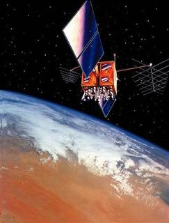 A global positioning satellite is seen in a handout artist's rendering. REUTERS/Handout