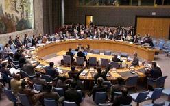 <p>Зал заседания Совета Безопасности ООН в Нью-Йорке, 13 октября 2006 года. Совет Безопасности ООН в четверг не принял предложенный Россией новый вариант резолюции по Южной Осетии. REUTERS/Chip East (UNITED STATES)</p>