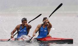 <p>Gli azzurri Andrea Facchin e Antonio Scaduto. REUTERS/Darren Whiteside (Cina)</p>