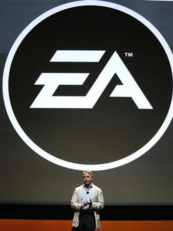 Electronic Arts Chief Executive Officer John Riccitiello speaks at the Electronic Arts news conference at the 2008 E3 Media & Business Summit in Los Angeles July 14, 2008. REUTERS/Mario Anzuoni