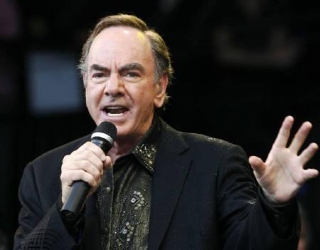 U.S. singer Neil Diamond performs at the Glastonbury Festival 2008 in Somerset in south west England June 29, 2008. REUTERS/Luke MacGregor/Files
