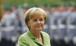 <p>Канцлер Германии Ангела Меркель на переговорах с президентом Ганы Джоном Куфуором 27 августа 2008 года. Канцлер Германии Ангела Меркель третий год подряд занимает первую строчку в списке самых влиятельных женщин планеты по версии журнала Forbes. REUTERS/Johannes Eisele</p>