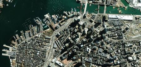 Boston is pictured from a GeoEye satellite in an undated handout photo. REUTERS/GeoEye/Handout
